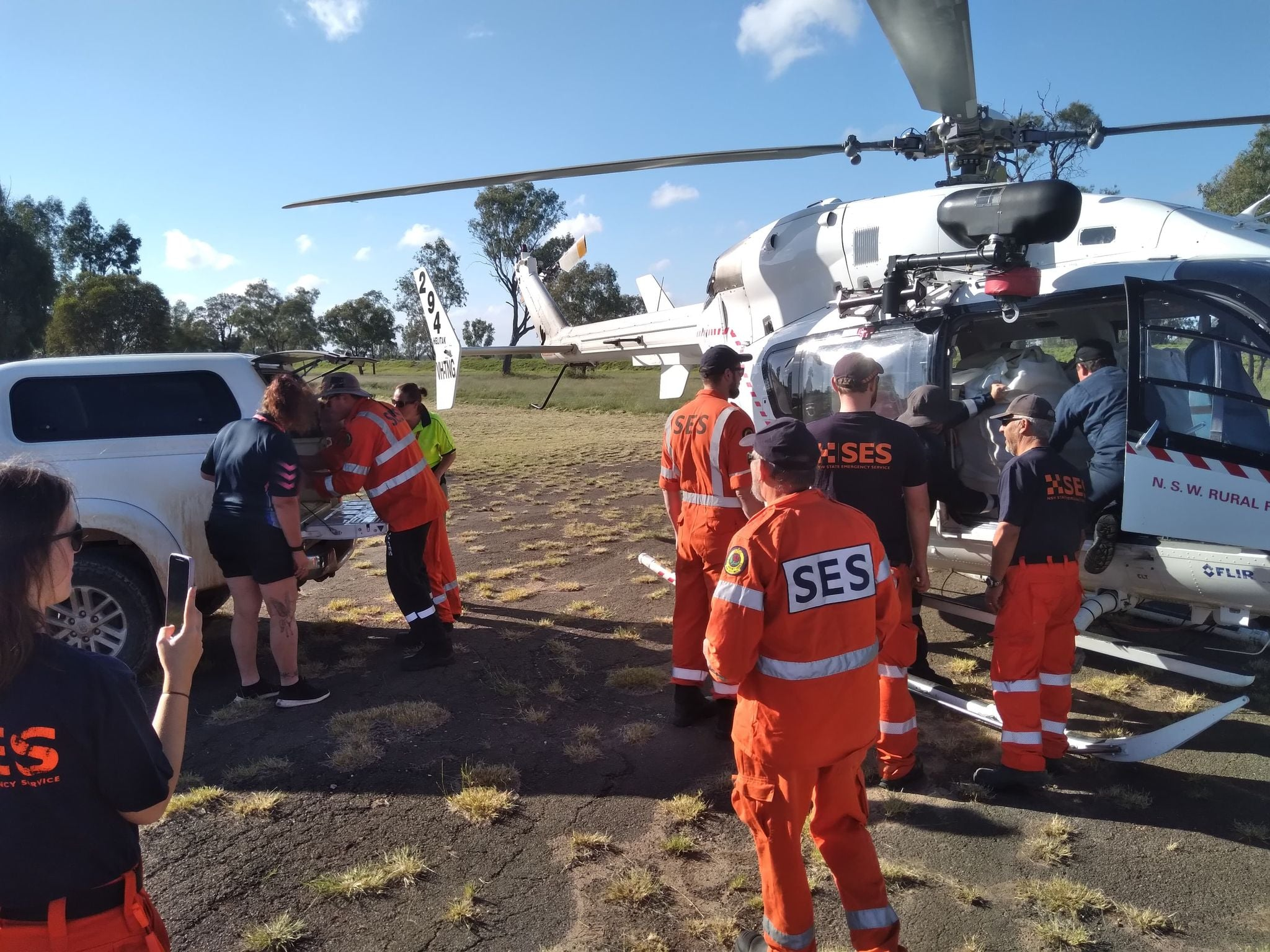 NSW Flood Emergency - SES crews