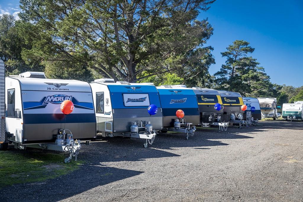 A caravan sales yard