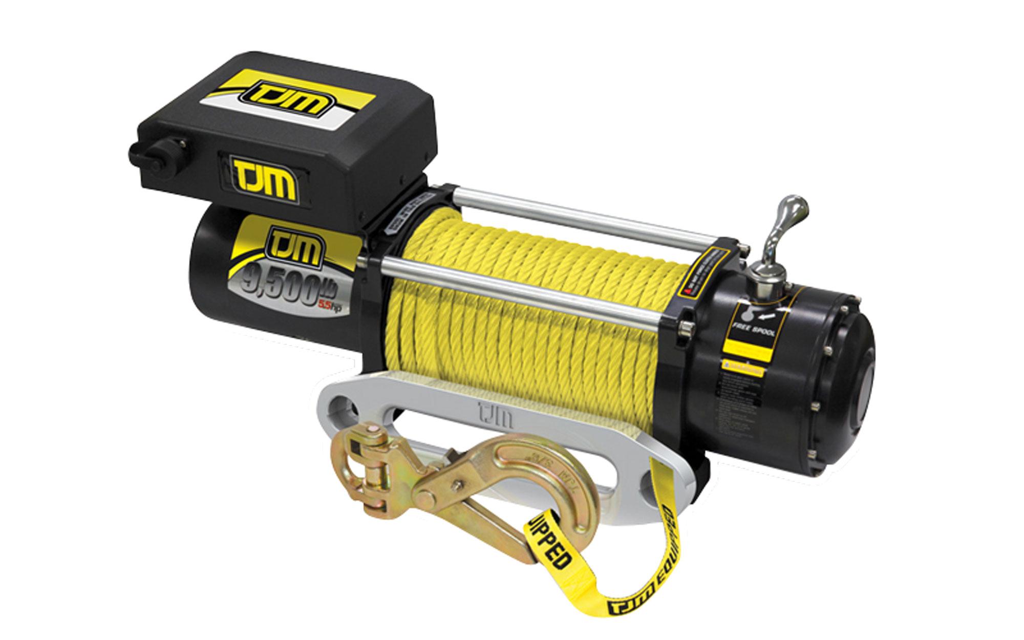 TJM 9500lb Synthetic Rope Torq Winch