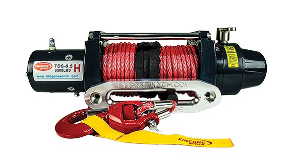 Kingone 9500lb Synthetic Rope Winch