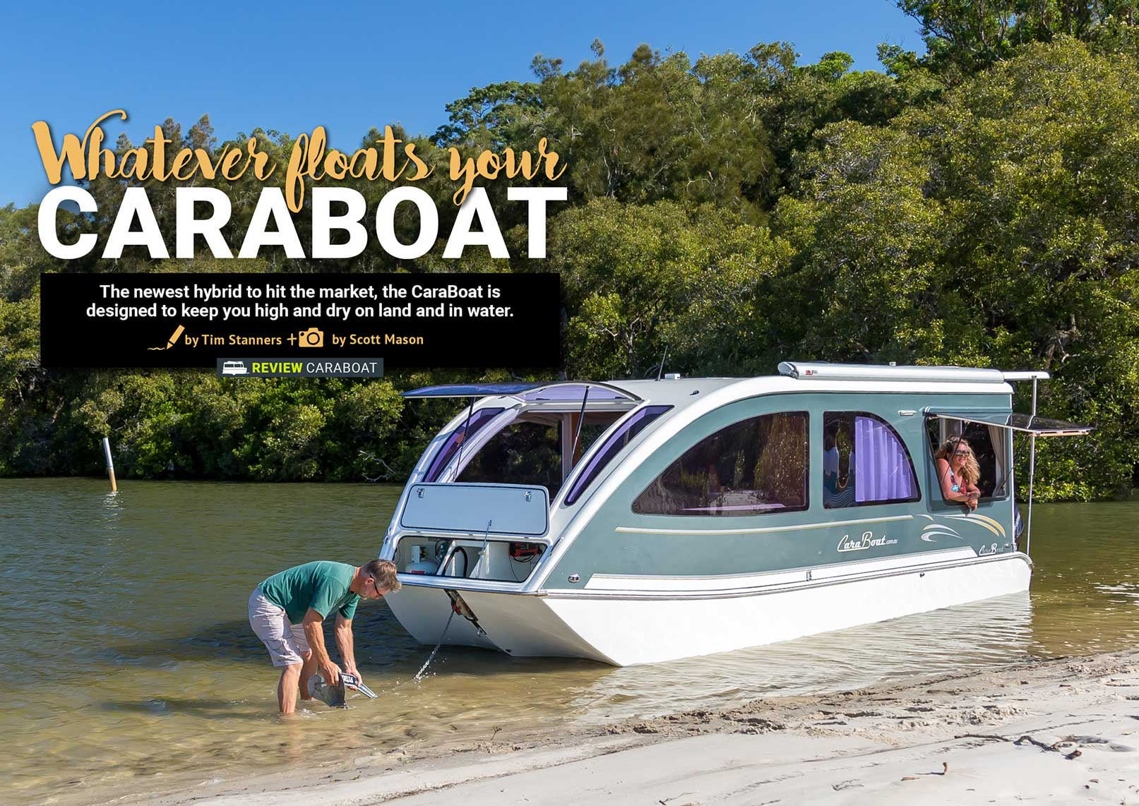 The CaraBoat – a hybrid design for land and water