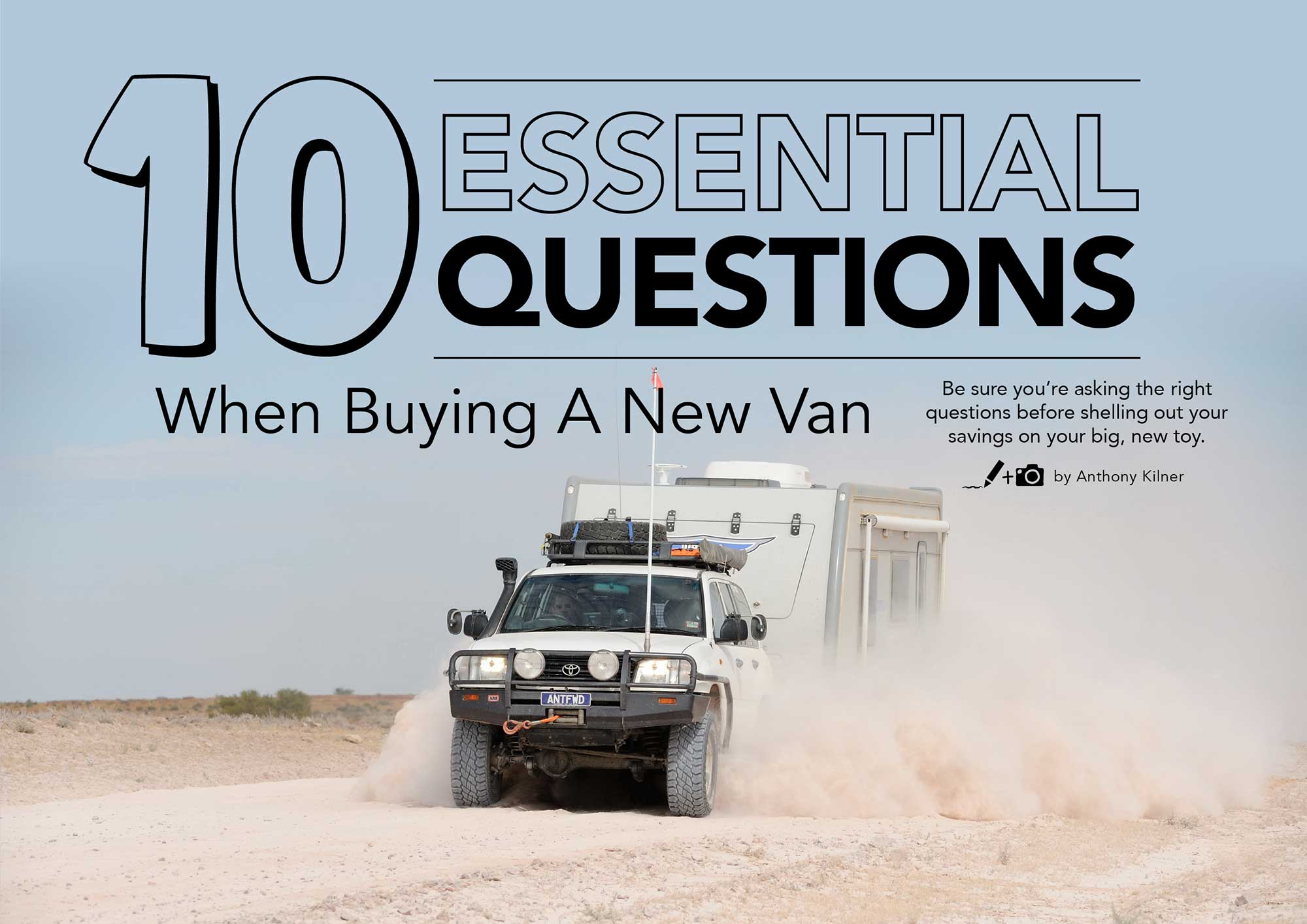 10 Essential Questions When Buying A New Van