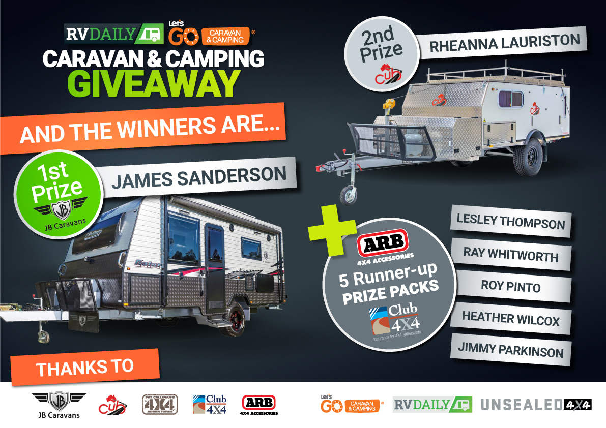 Winners of The Lets Go Caravan & Camping RV Daily 110k Giveaway