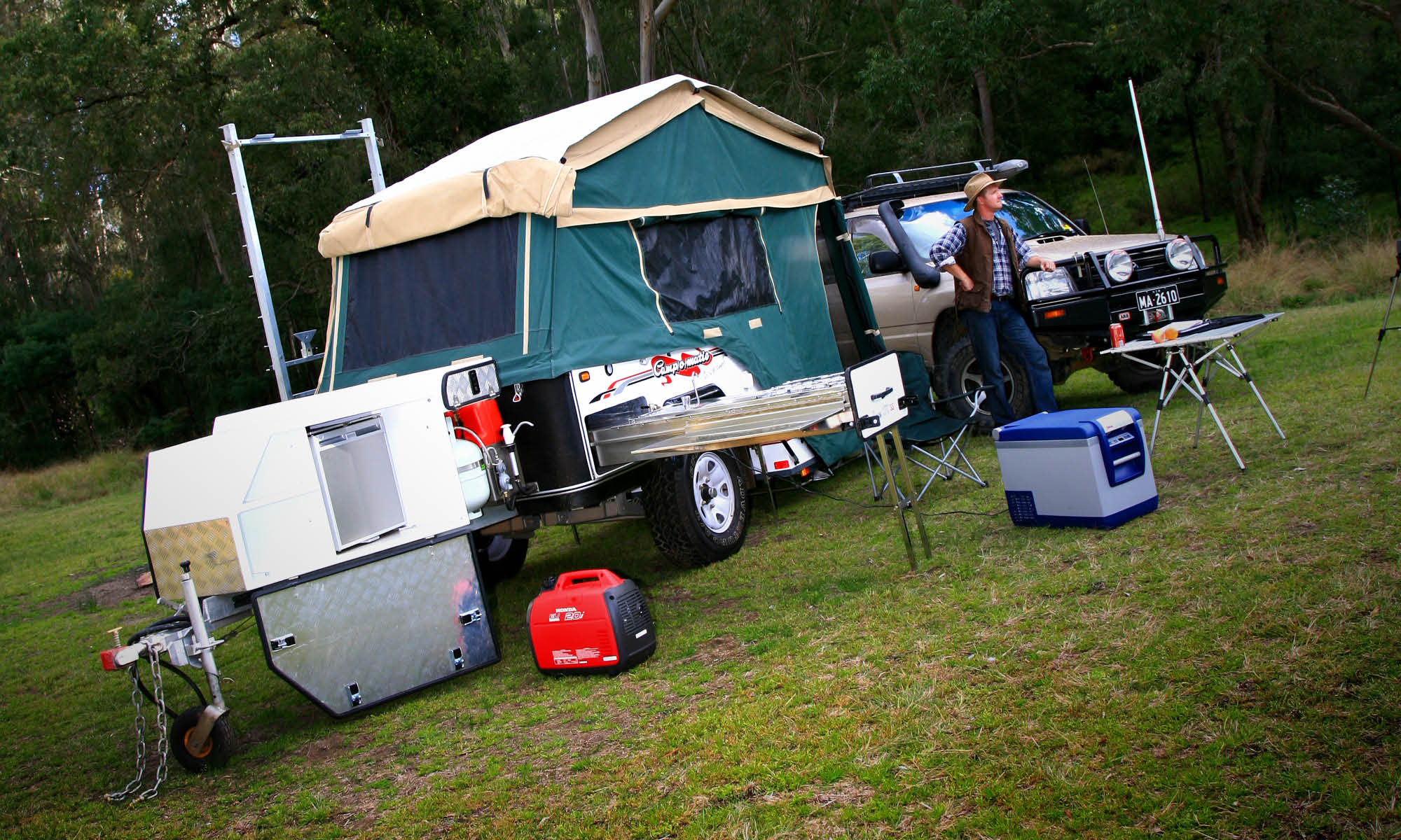 The set-up of this camper isn't automatic but it sure is easy!