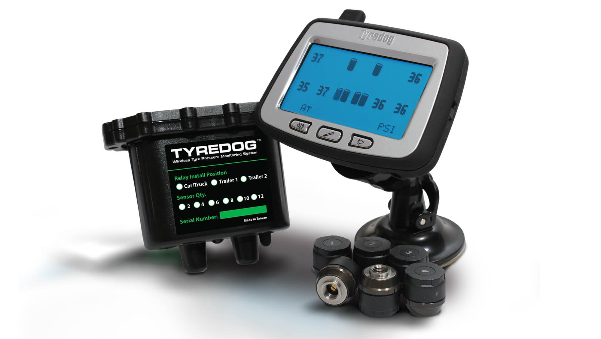 TYREDOG Wireless Tyre Pressure Monitoring Kit TD-2700F-X kit
