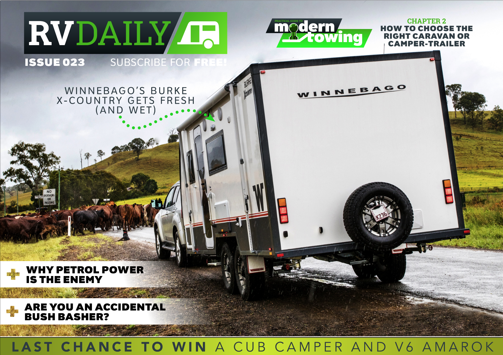 ISSUE 023 – Winnebago's Burke X-Country gets fresh (and wet)