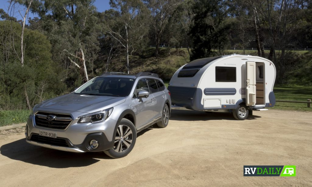 Adria Action and Subaru Outback