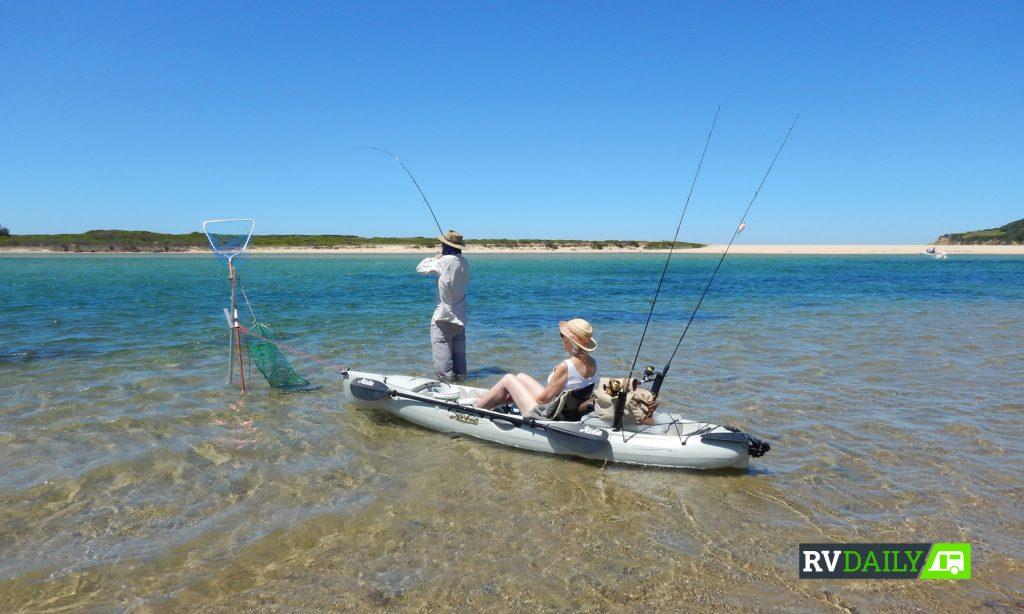 boat storage, kayak-based fishing
