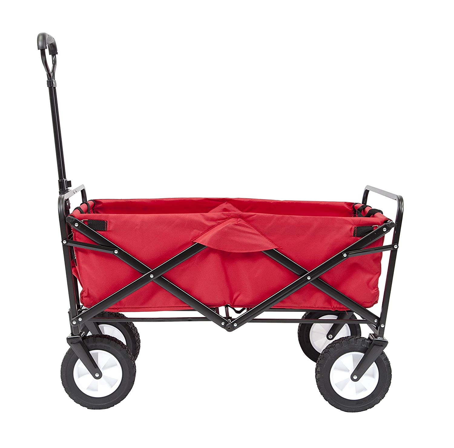 Mac Sports Macwagon Foldable and Wheeled Red Wagon