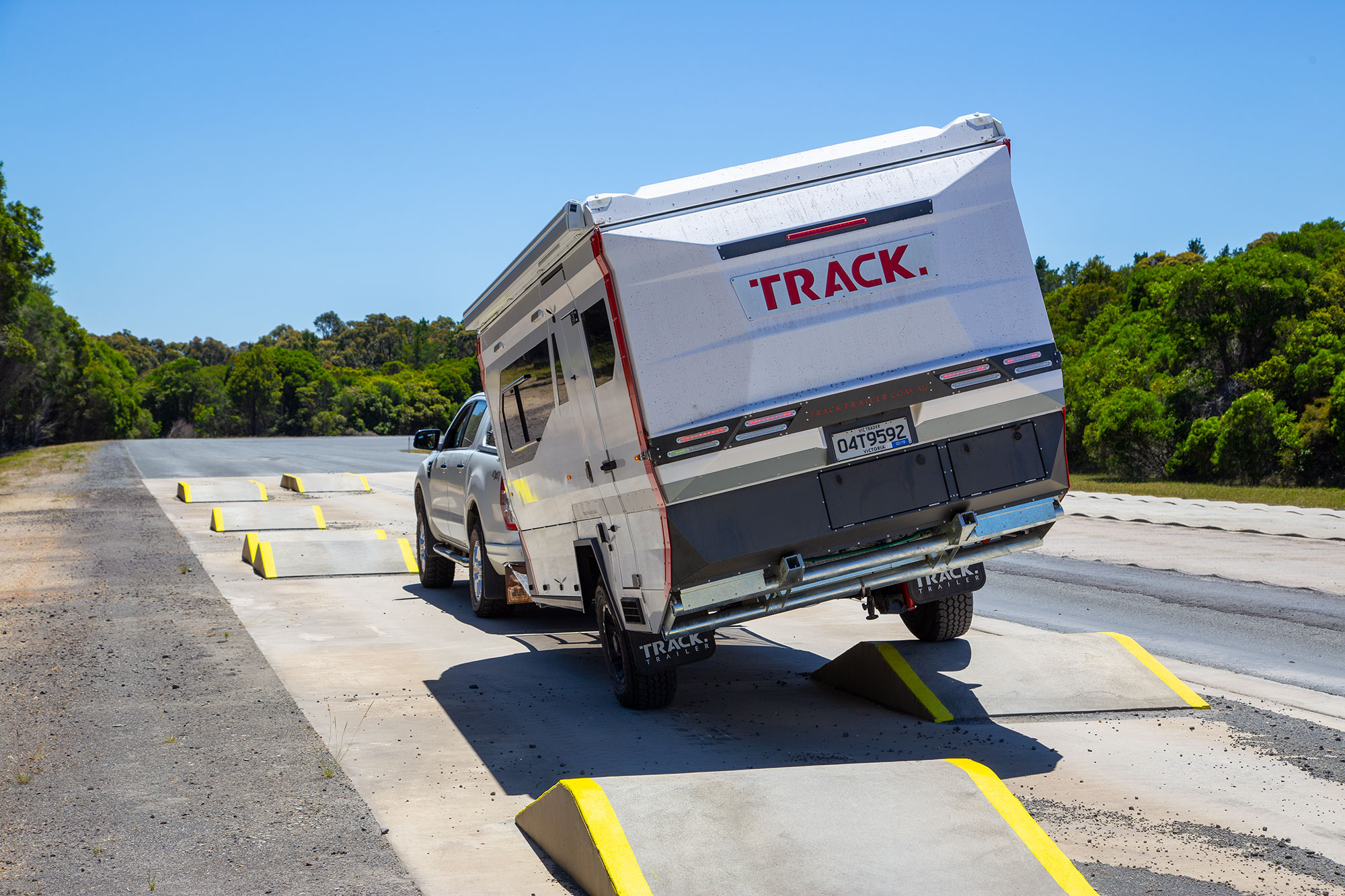 Exclusive: Track Trailer T4 off-road hybrid van in action
