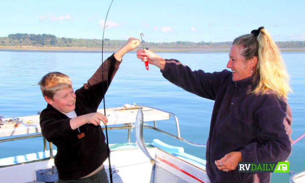 kids enjoy learning how to fish