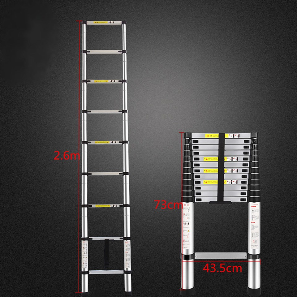 MickeyBlu Fully Portable Extendable Telescopic Ladder