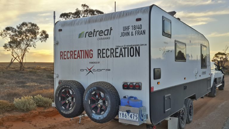 Time to get serious – the Retreat gasless caravan takes to the red stuff