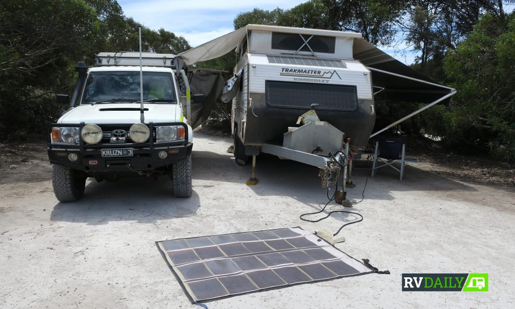 using solar for remote camping