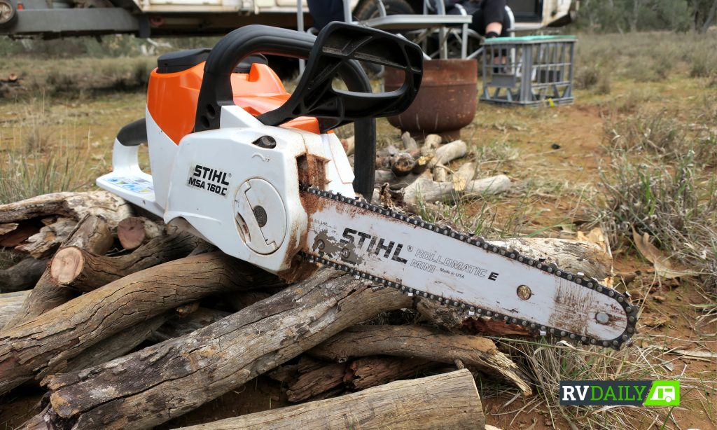 Stihl battery powered chainsaw