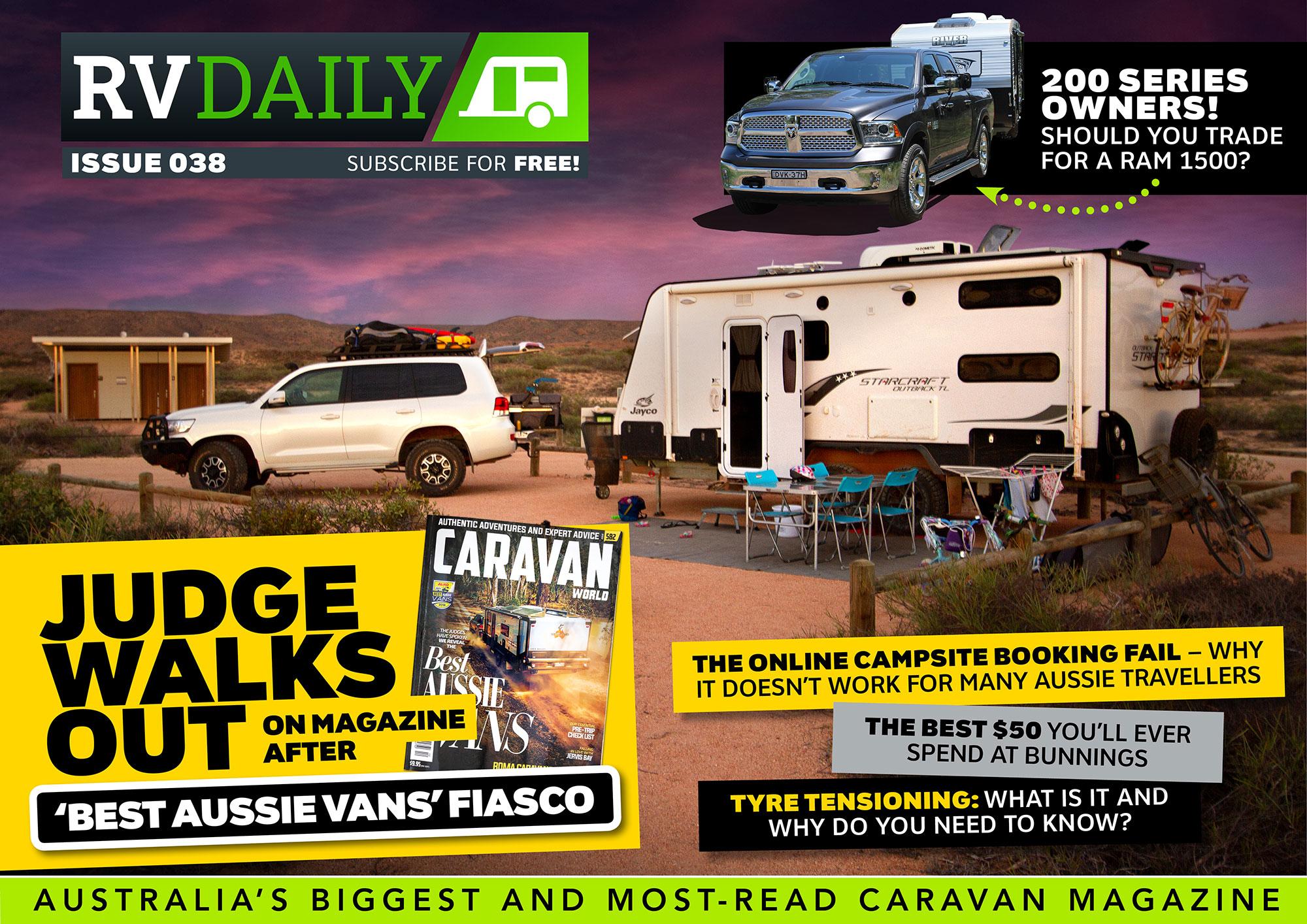 ISSUE 038 – Judge walks out on magazine after 'Best Aussie Vans' fiasco!