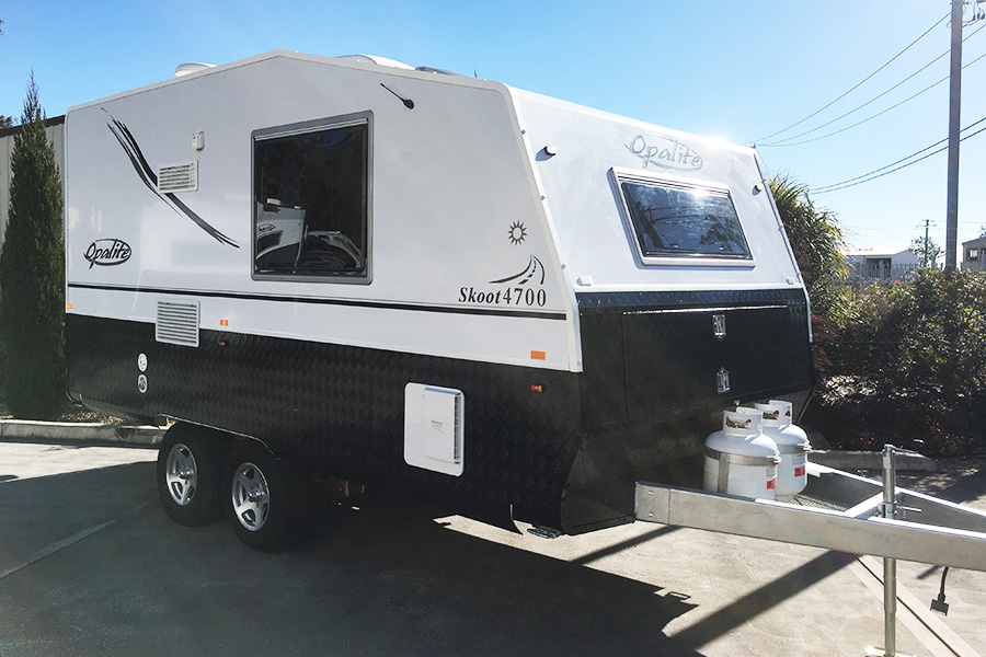 Opalite Skoot Caravan recalled due to risk of axle bearings failing