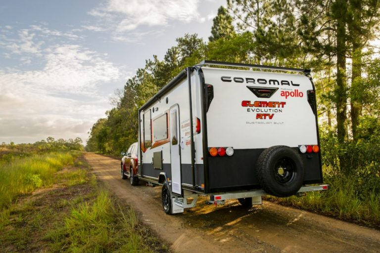 Coromal now under construction by Apollo with first Brisbane-built van hitched up