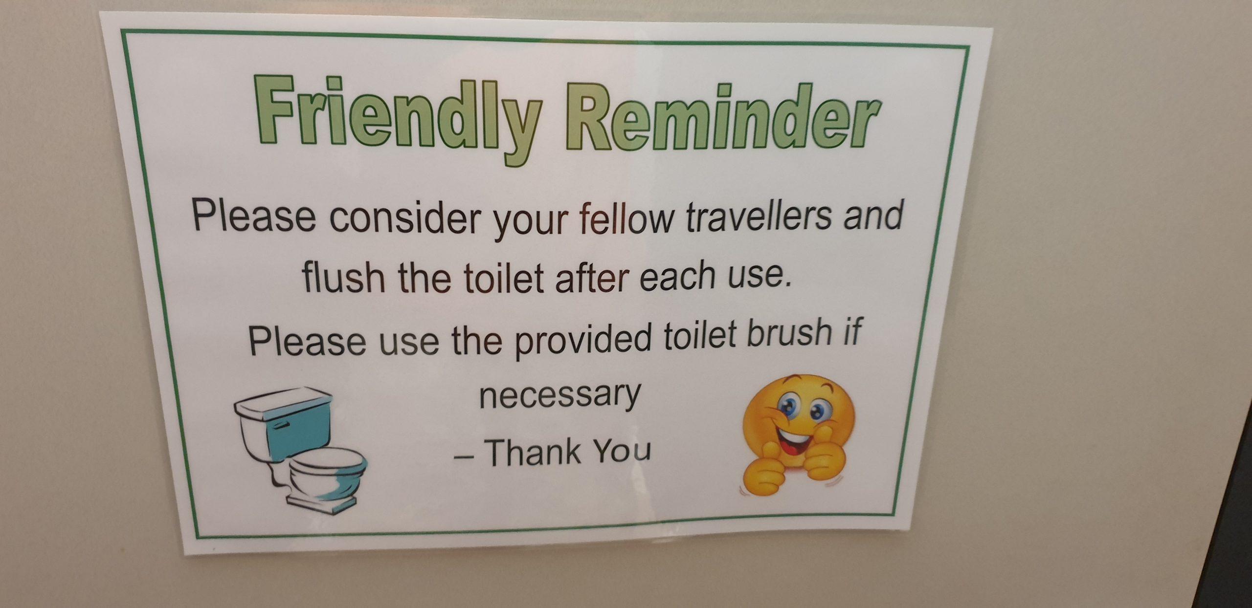 caravan park toilet sign