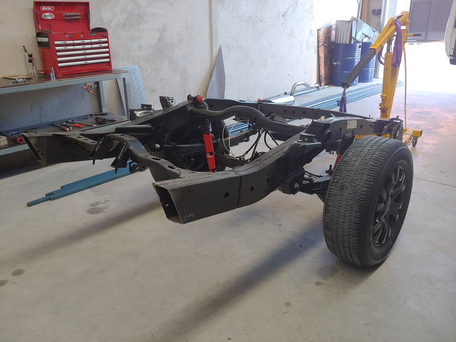 chassis extension on a ute
