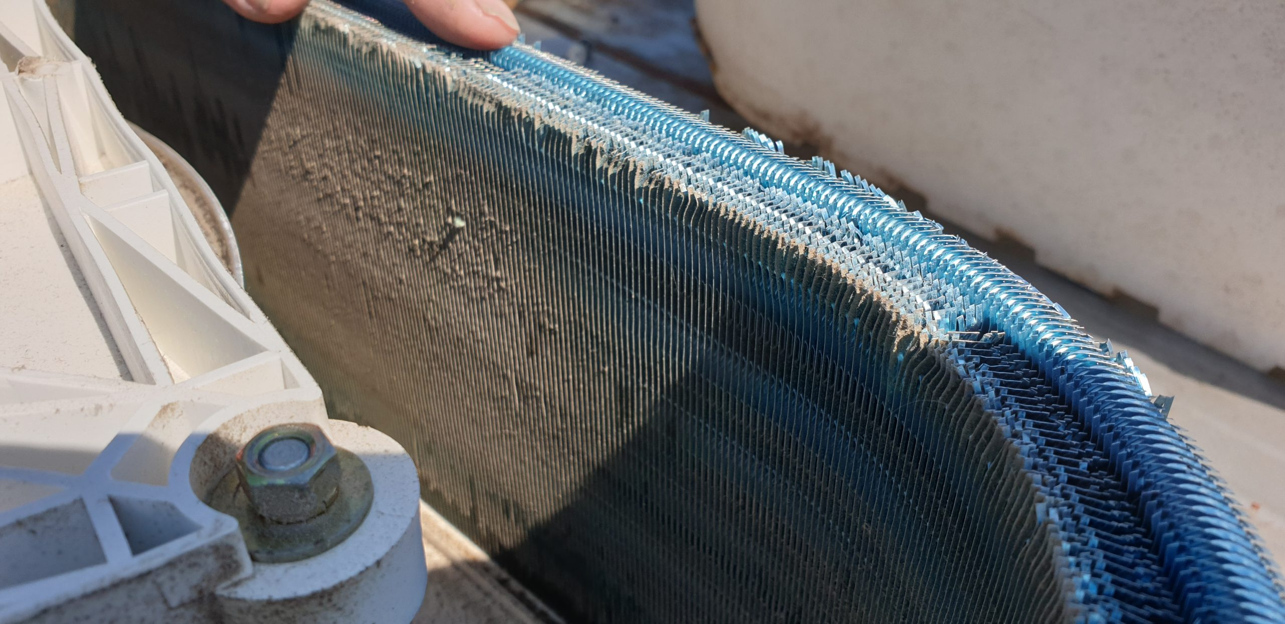 Air conditioner service - dust build up