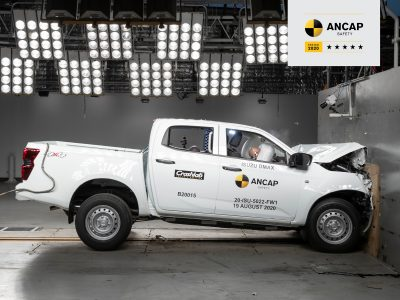 It's a five-star ANCAP safety rating for the 2021 Isuzu D-MAX