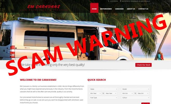 EM-Caravans outed as a scam: Buyer beware