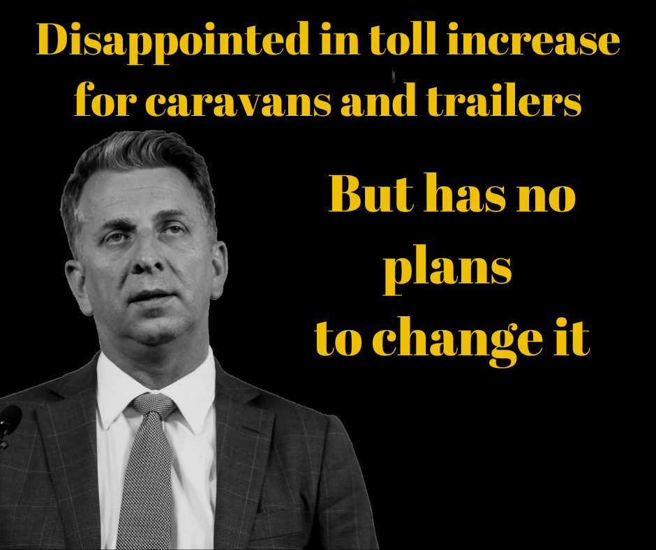 NSW Caravan Tolls – there's good news and bad news