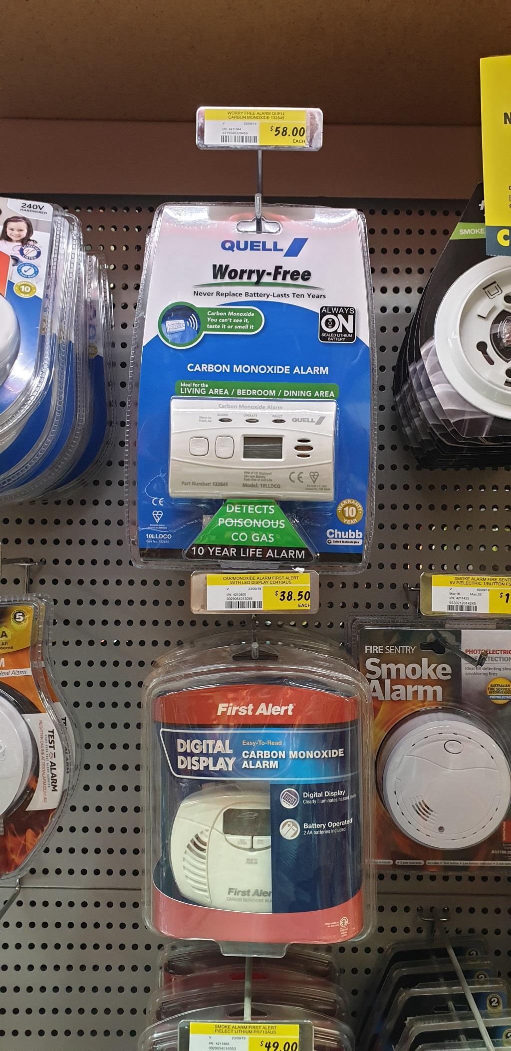 A Range Of Carbon Monoxide Alarms Are Available At Most Hardware Stores