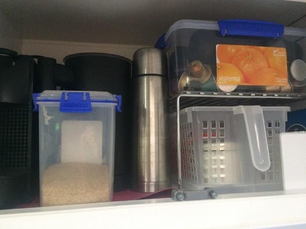 Caravan storage hacks Coffee