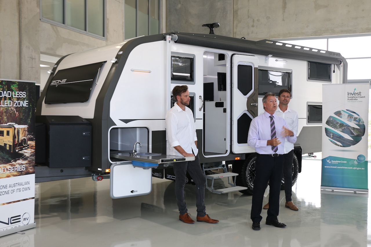 Zone RV's new $8m facility opens on the Sunshine Coast