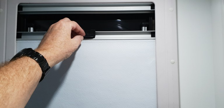 How to fix a Dometic window roller blind