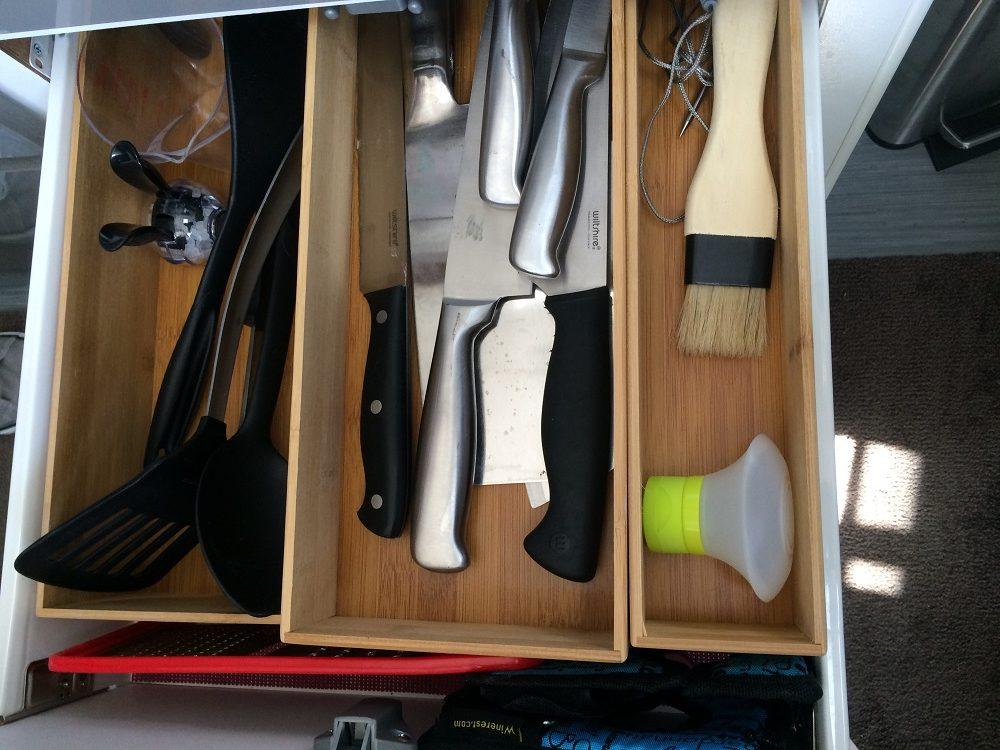 Caravan storage hacks utensils