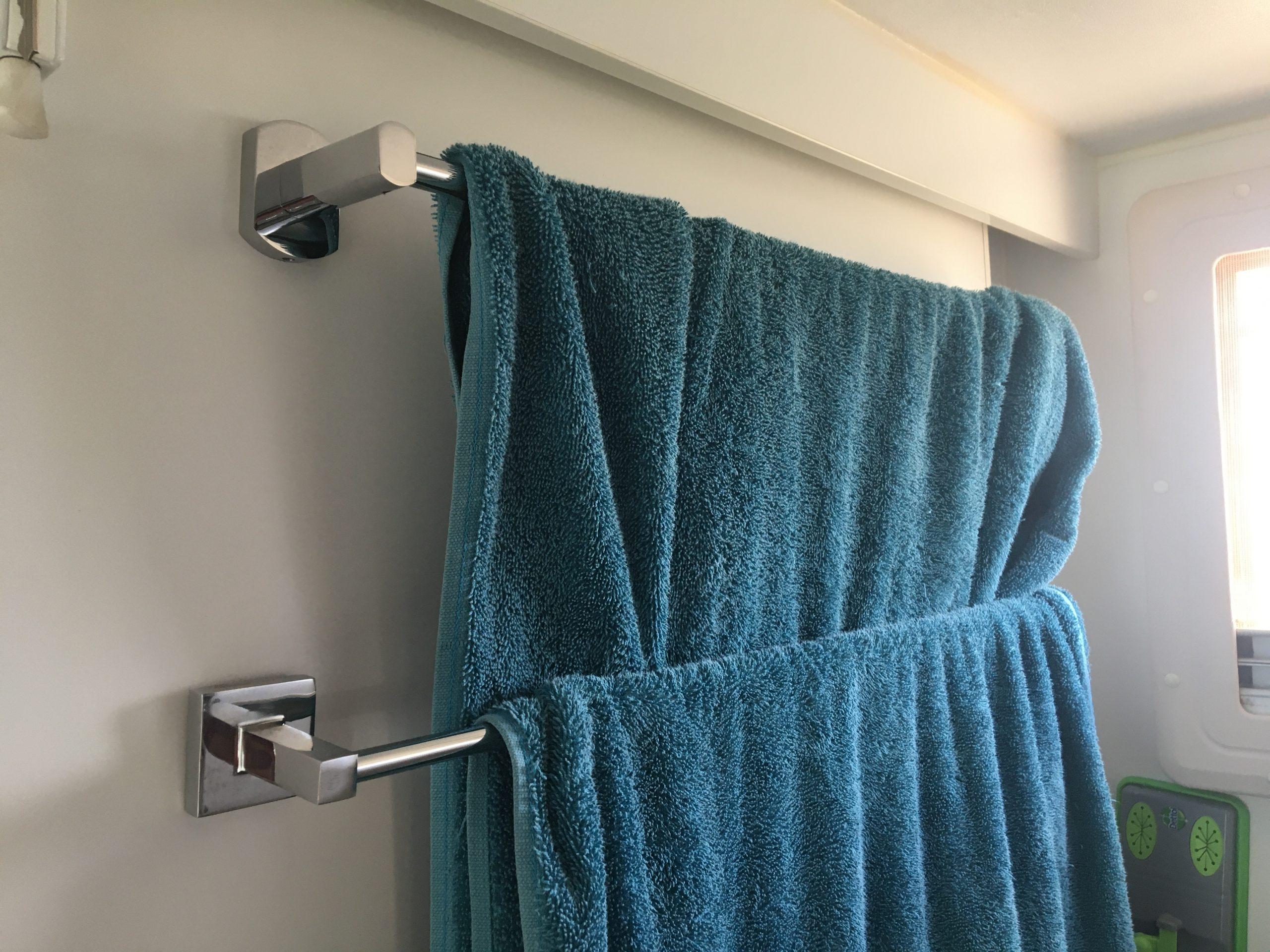 Ensuite towel rack