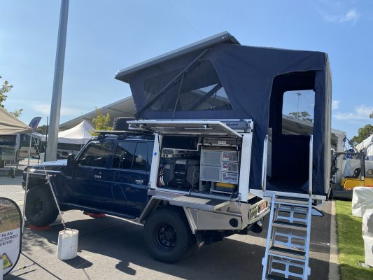 Lotus Caravans' new-model Troopers equipped with the Dometic Dust Reduction System
