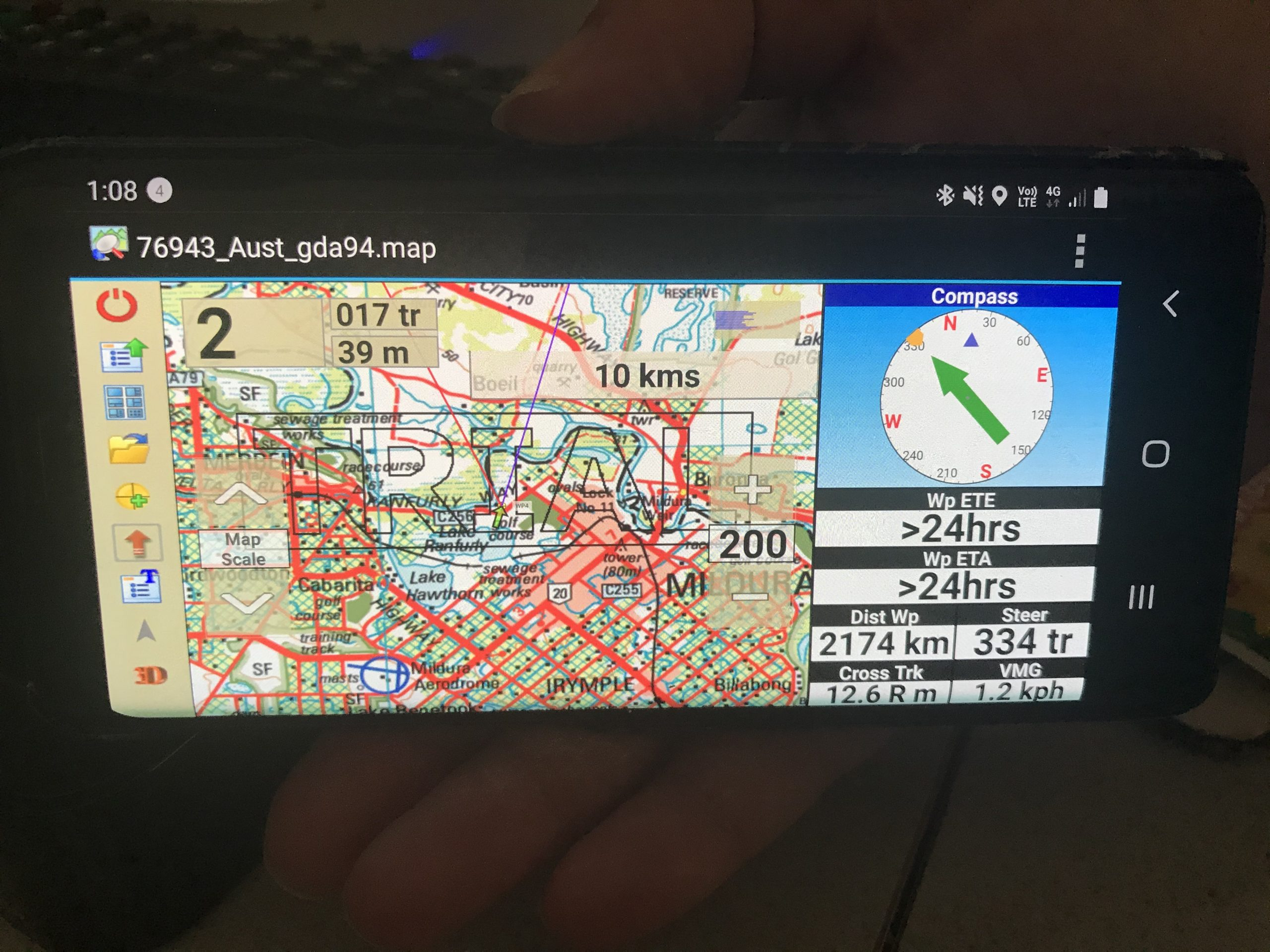 OziExplorer on android smartphone GPS mapping software