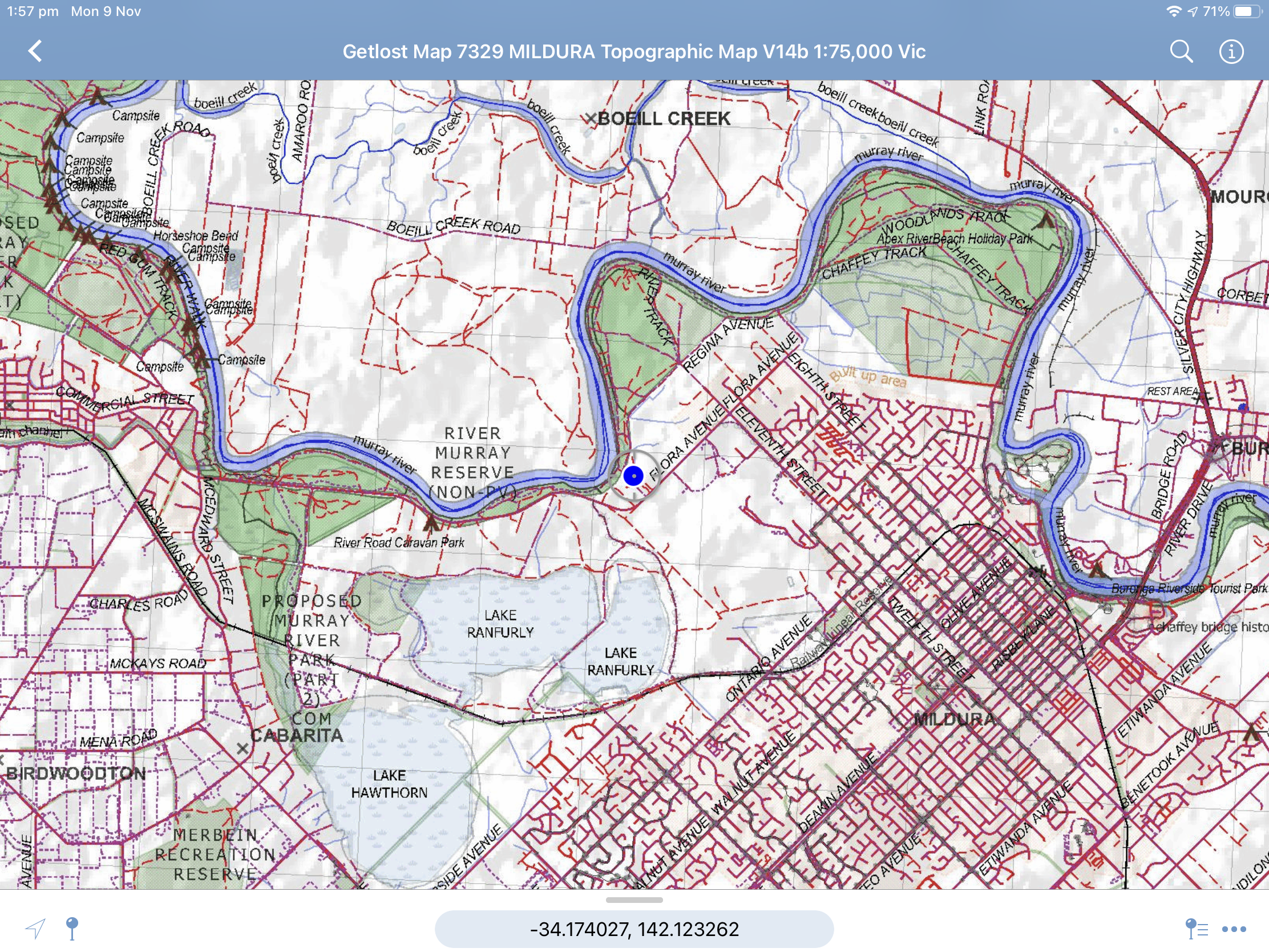 Avenza Maps on iOS GPS mapping software