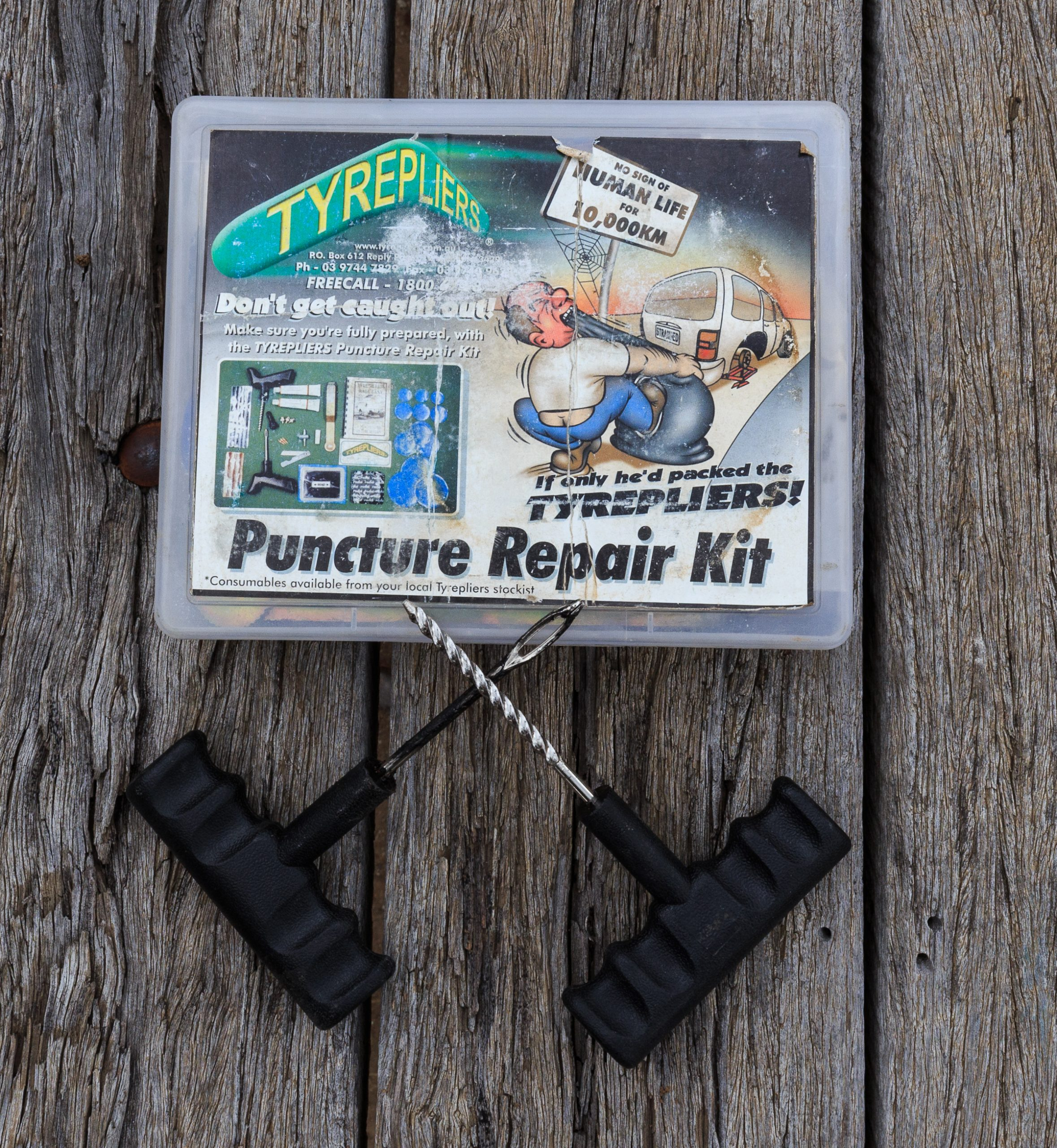 A puncture repair kit is an RV essential tool