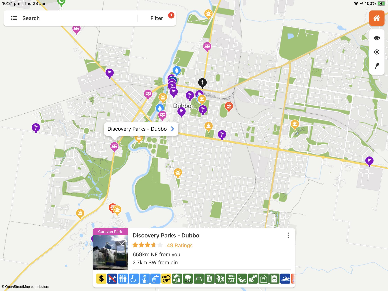 The big trip plan - WikiCamps