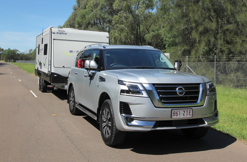 2020 Nissan Patrol towing