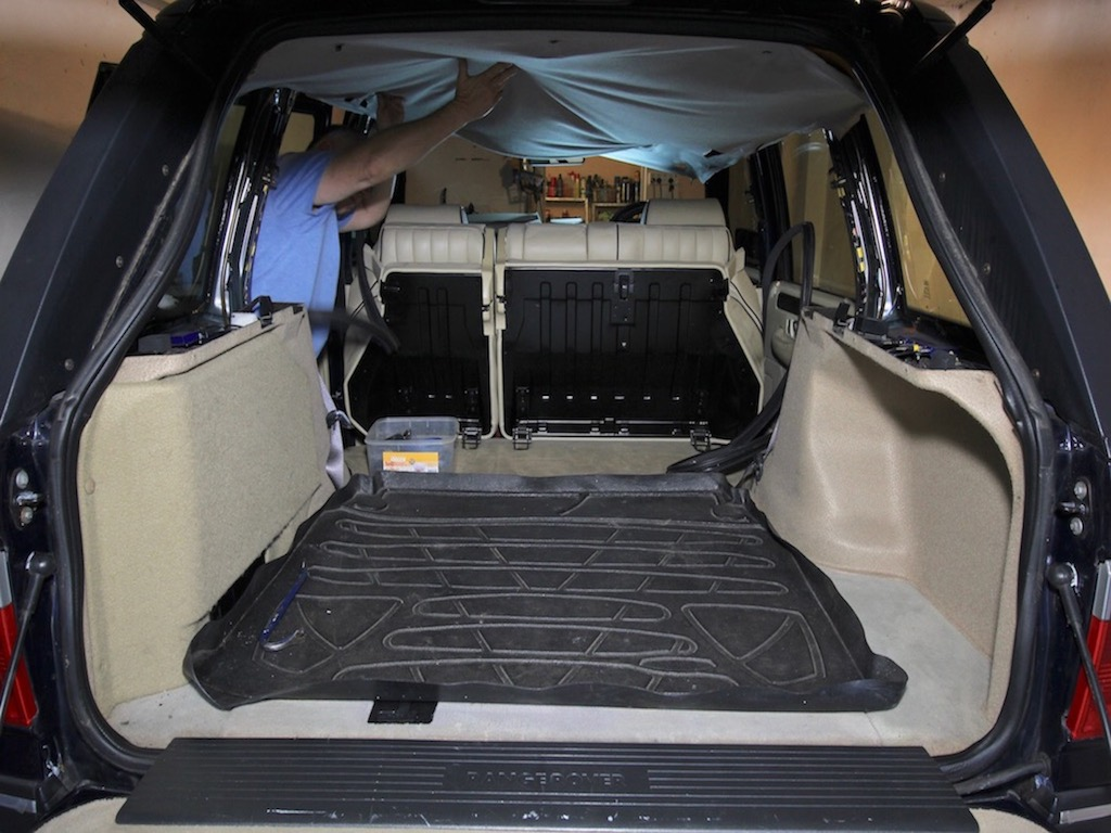 How to repair the headliner in your tow rig