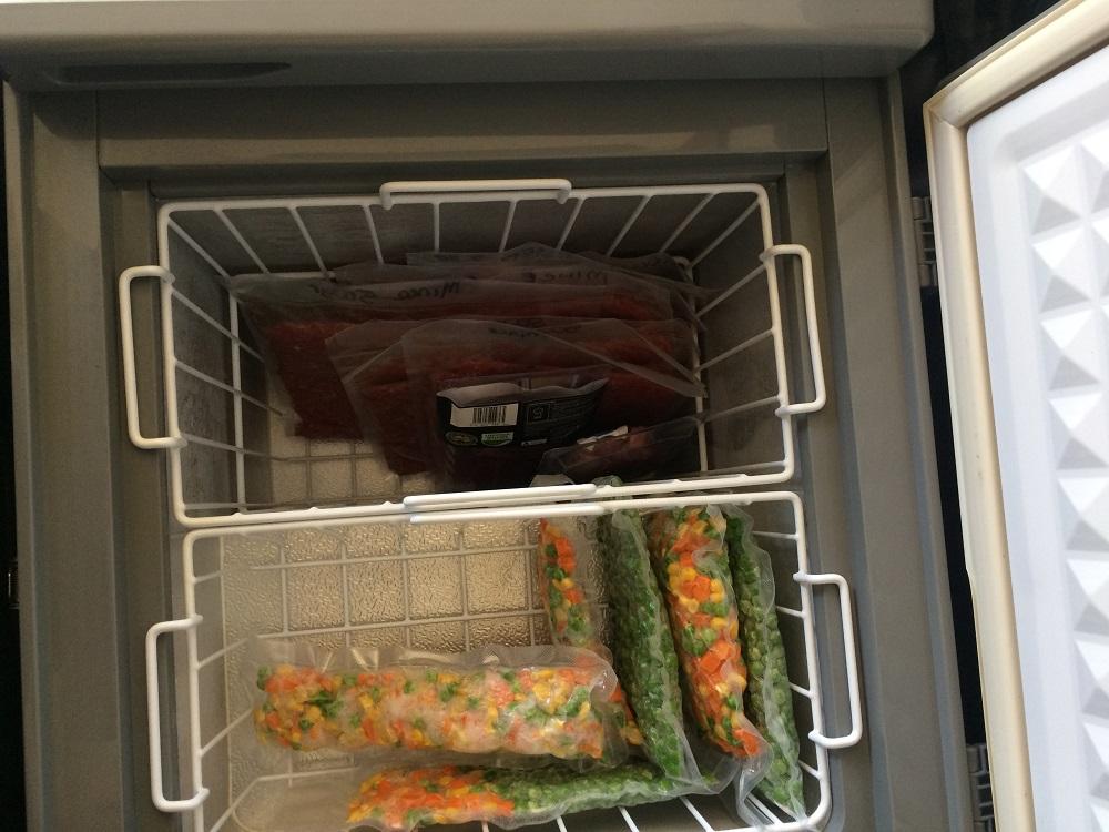 Caravan storage hacks freezer baskets