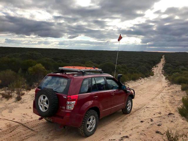 Flat towing a Suzuki Grand Vitara