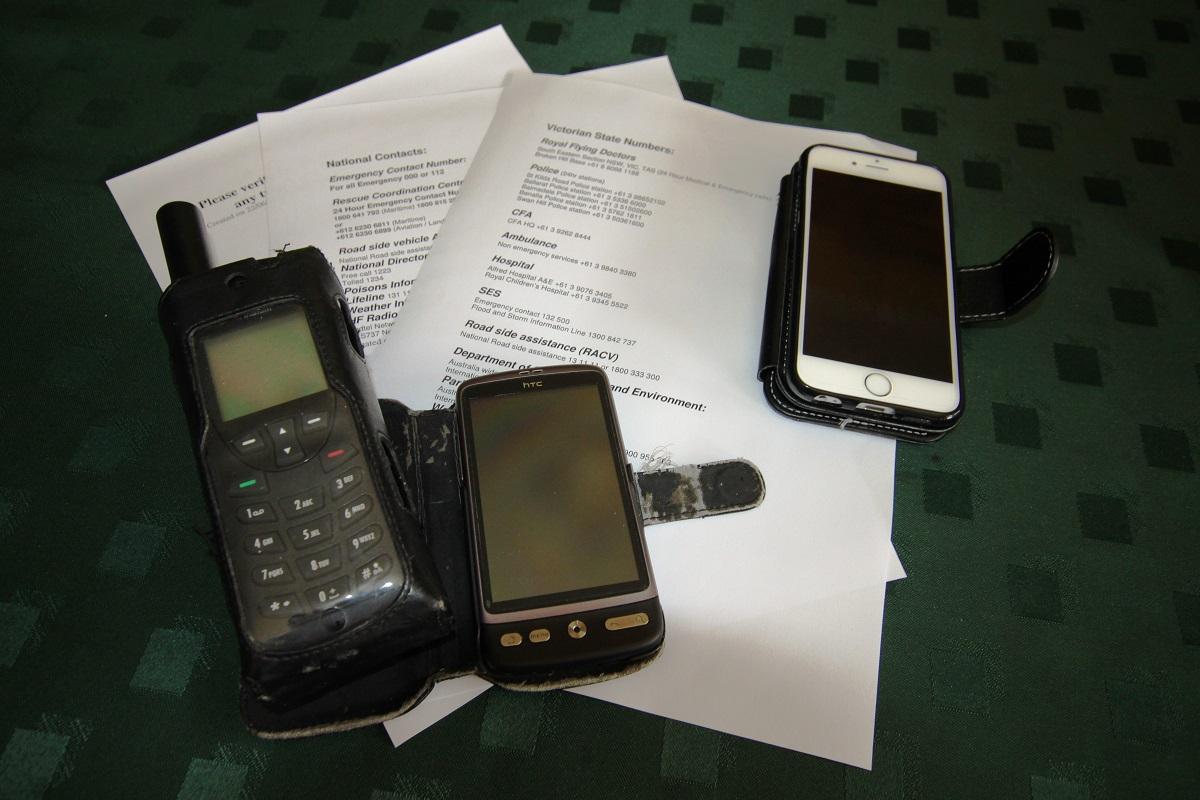 satphone and radio communication
