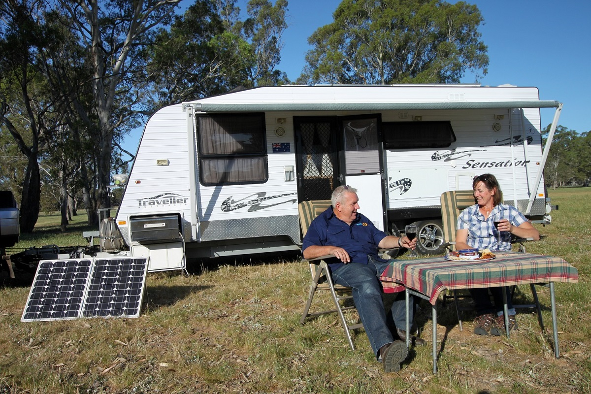 using solar power while free camping
