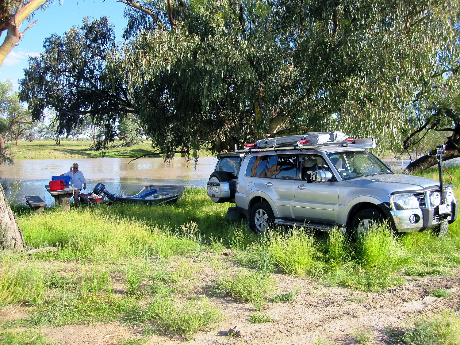 a perfect waterside camp