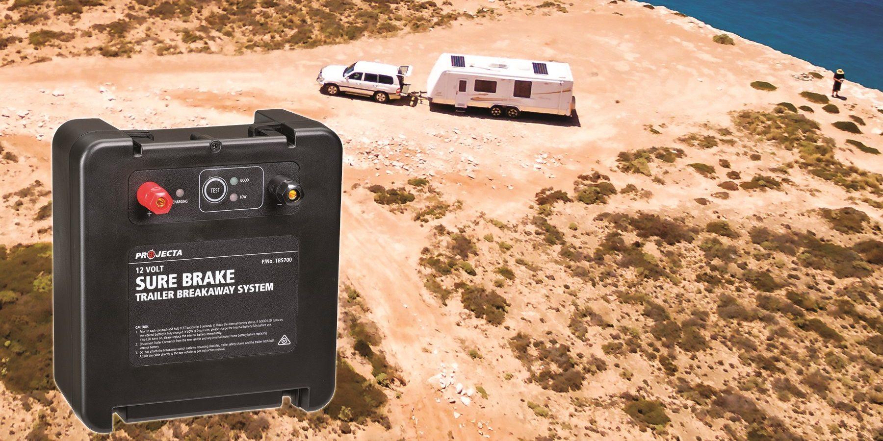 Projecta releases emergency trailer breakaway kit, Sure Brake