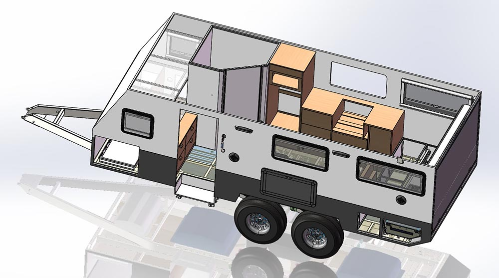 Caravan engineering - Ezytrail design