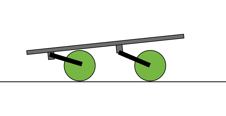 Nose weight shown on twin-axle trailer