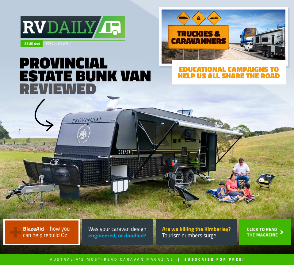 ISSUE 049 – How you can help rebuild Oz, caravan design and engineering + much more